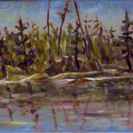 Shoreline, Benson lake_6x8