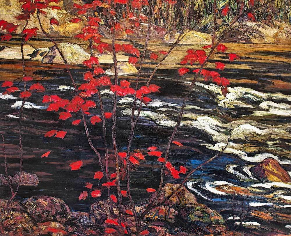 The Red Maple - A.Y. Jackson - Framing Place & Gallery
